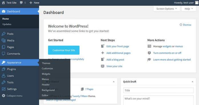 Navigating In WordPress Dashboard