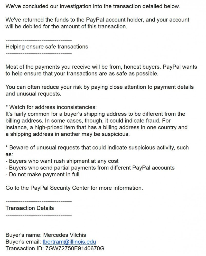 Be aware if you are selling intangible goods with PayPal!