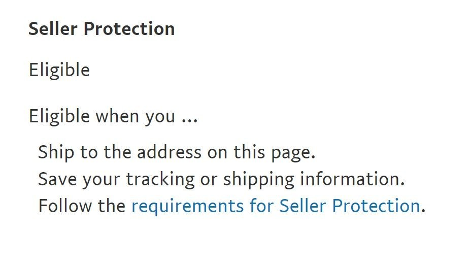 What do you need to know for PayPal Seller Protection?