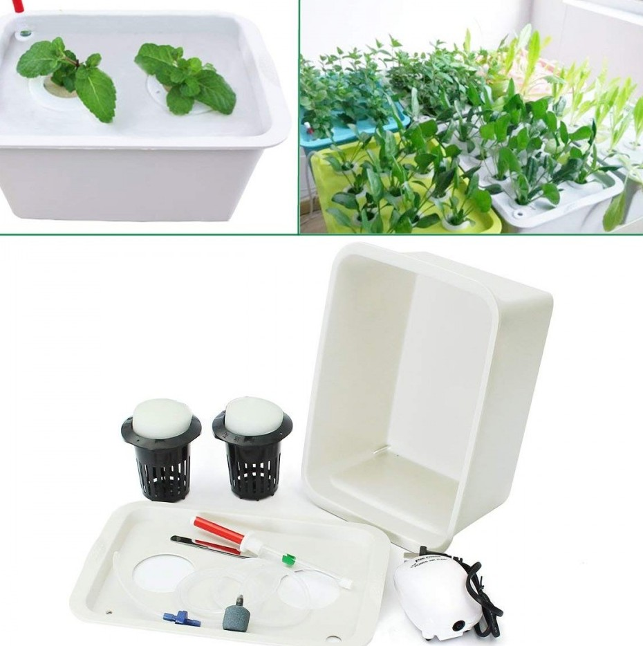 Hydroponic bubbling planter