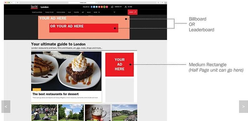 Time Out website digital ad spec sheet