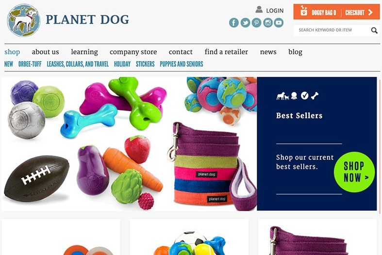 planet dog makes money by selling dog products direct to customers