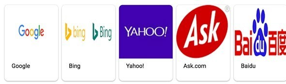 popular search engines today