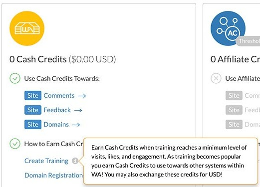 make money by creating training for wealthy affiliate members