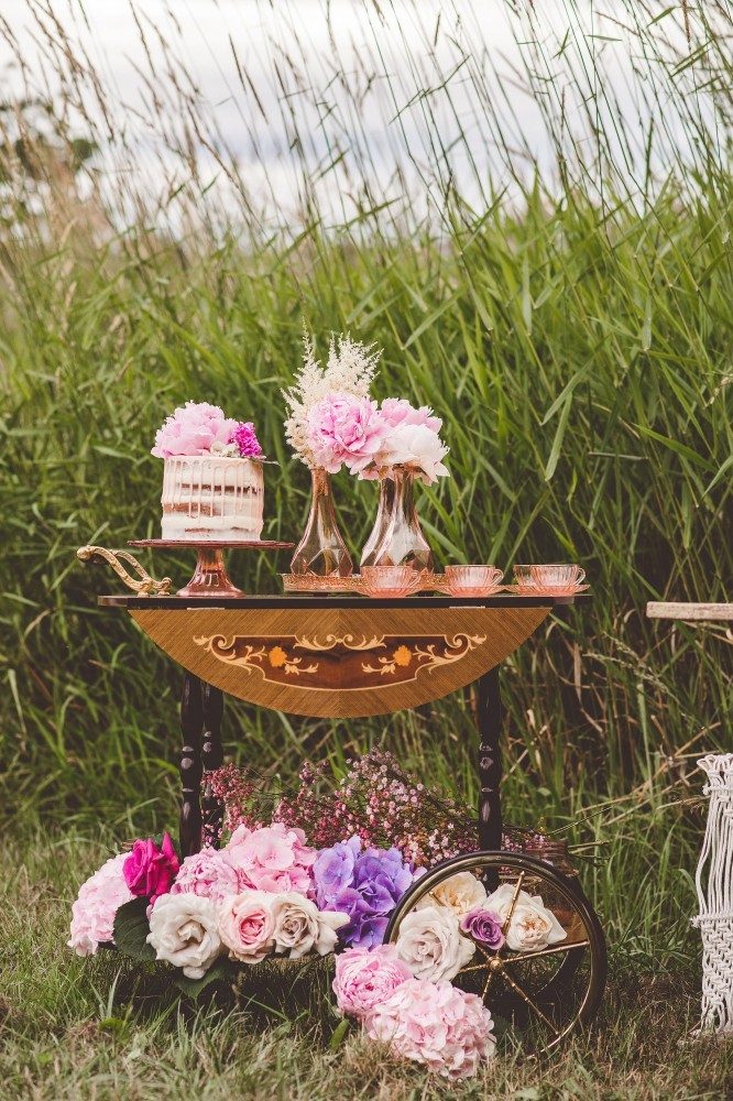 boho chic tea cart