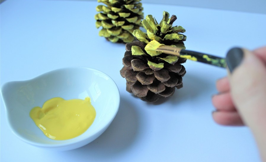 Pineapple pinecone ornament