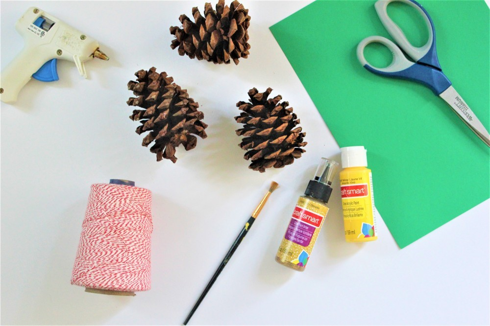 pinecone pineapple ornament