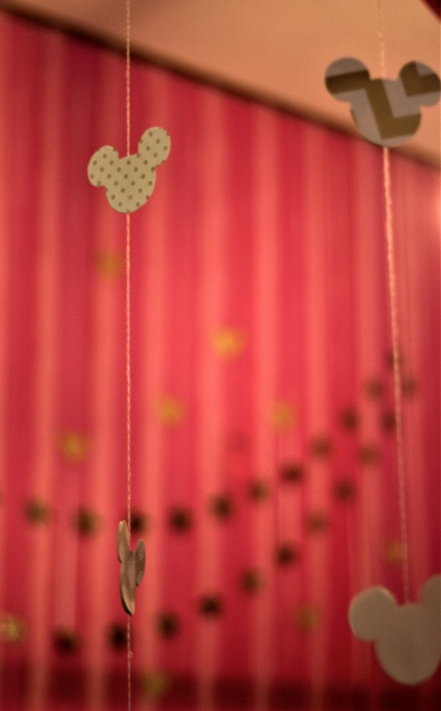 Pink gold Minnie decorations