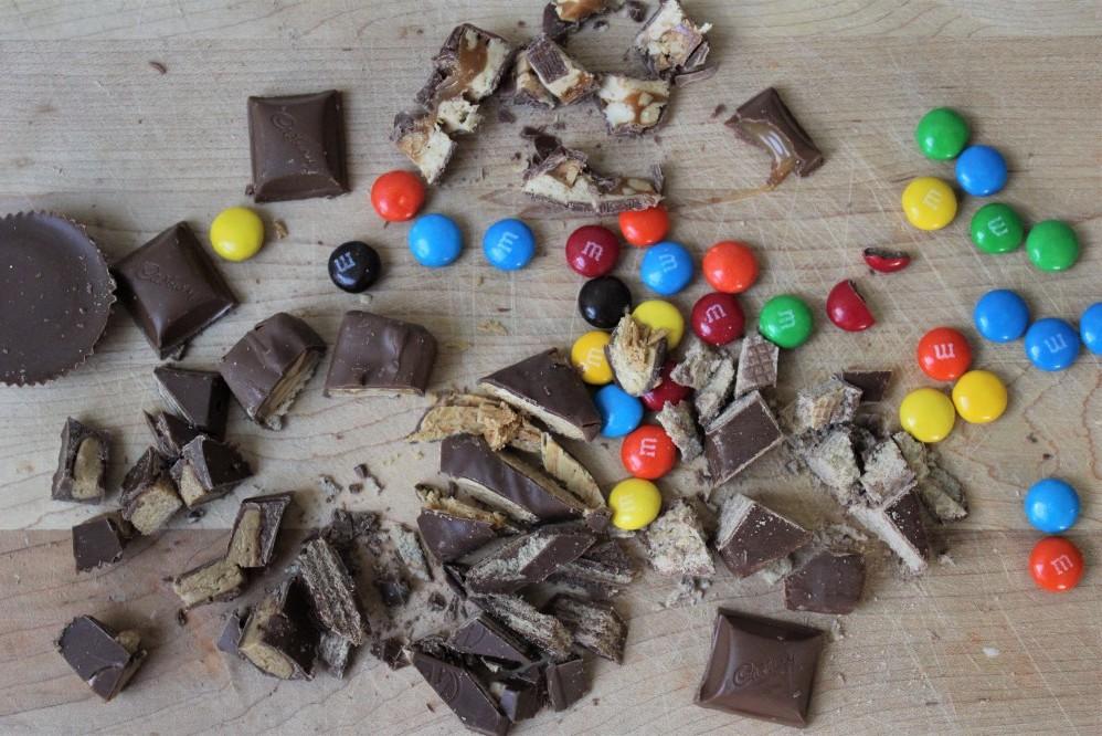 Halloween Candy Monster Cookies