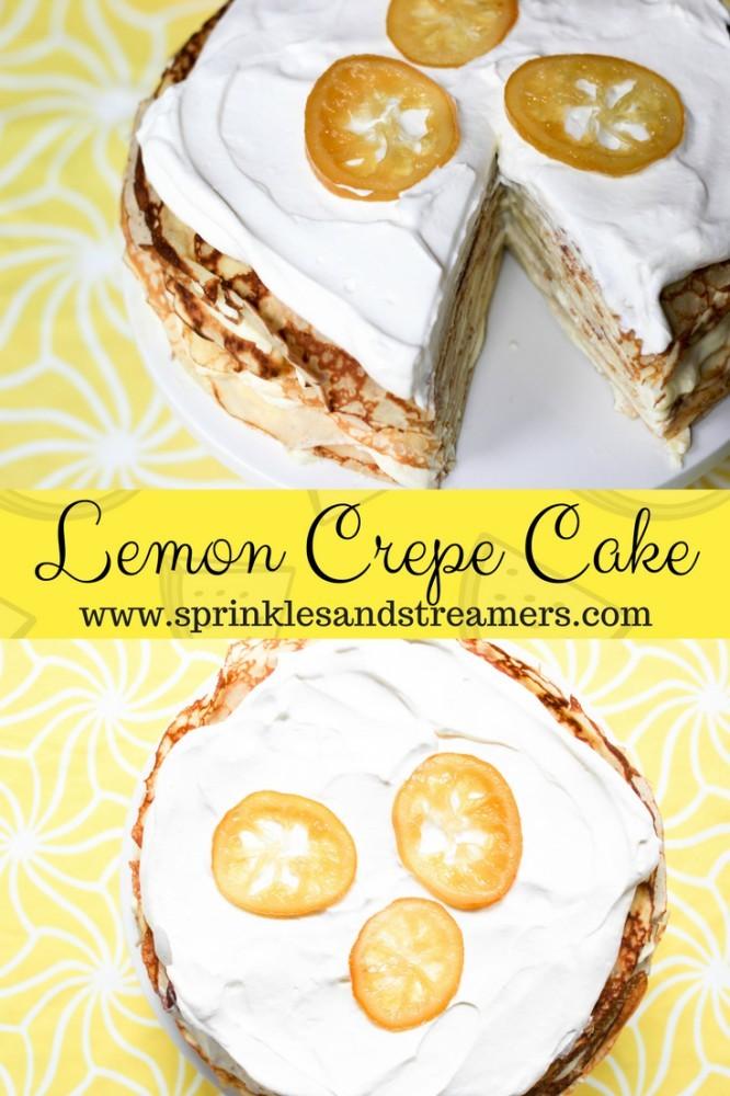 Lemon Crepe Cake Recipe