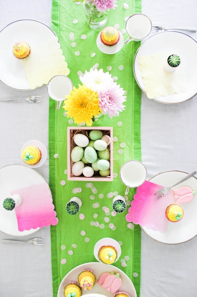 easy spring tablescape