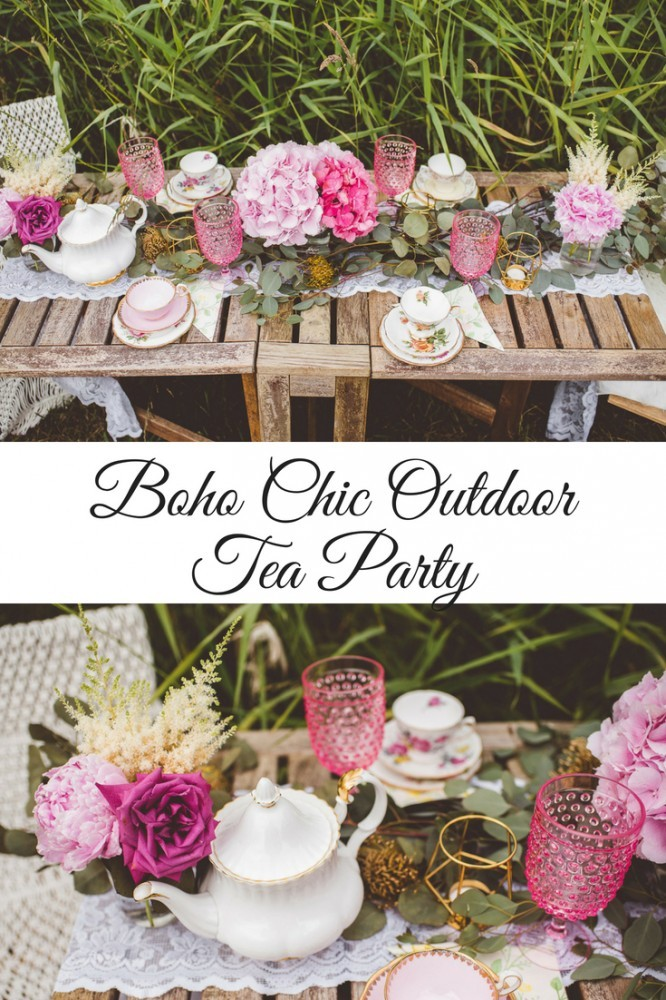 Boho Chic Outdoor Tea Party