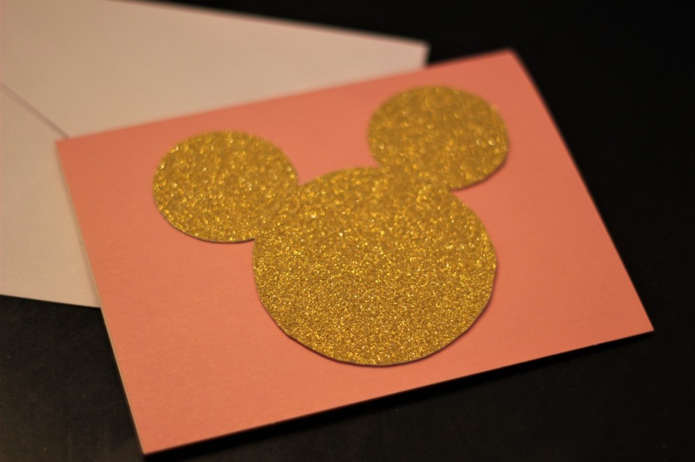 Pink gold Minnie Invitations