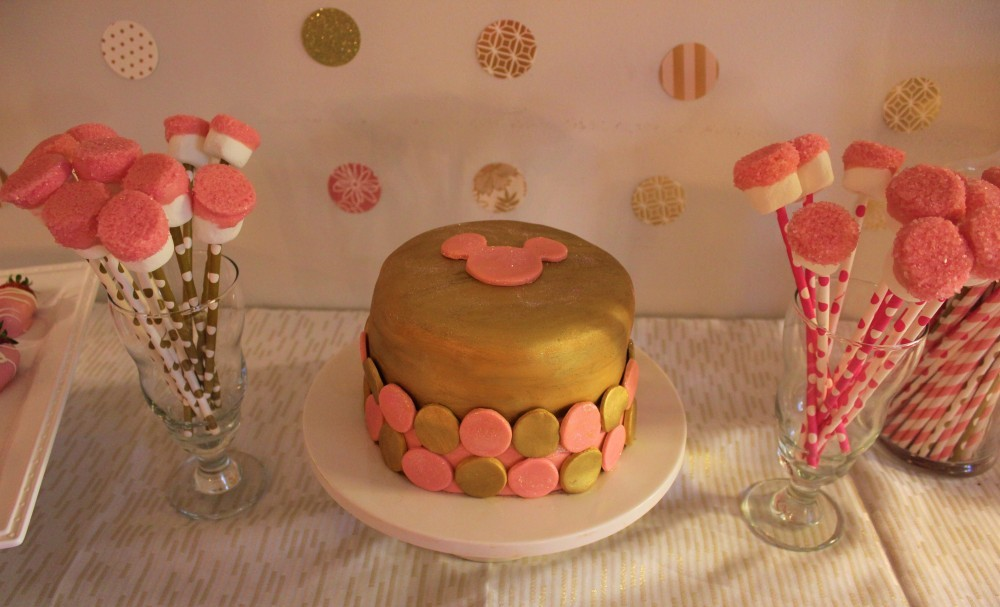 pink gold desserts