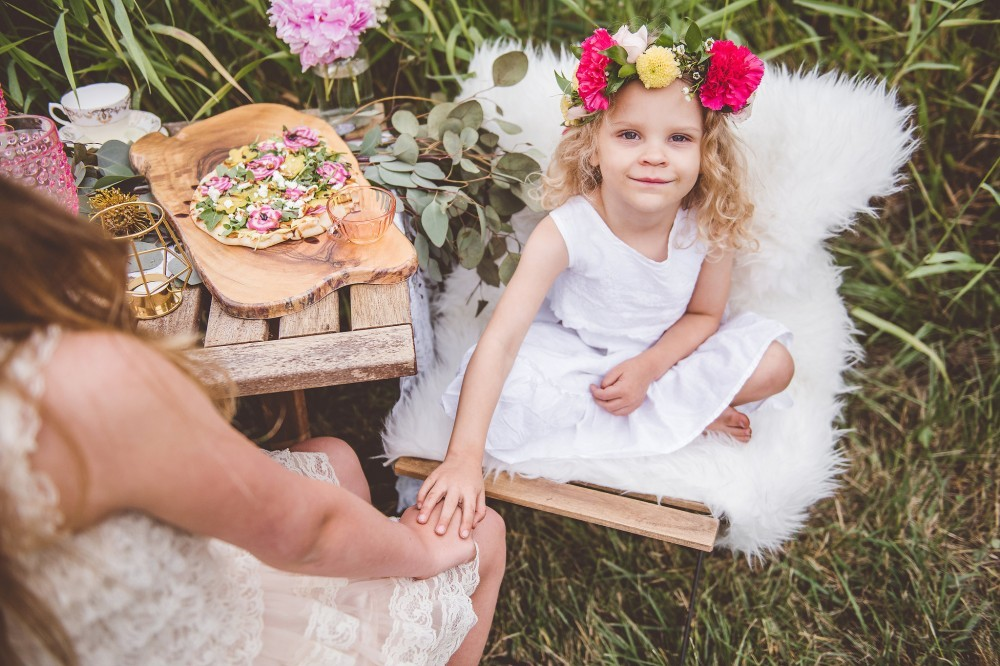 boho chic tea party