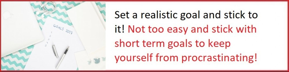 set realistic goals for online business