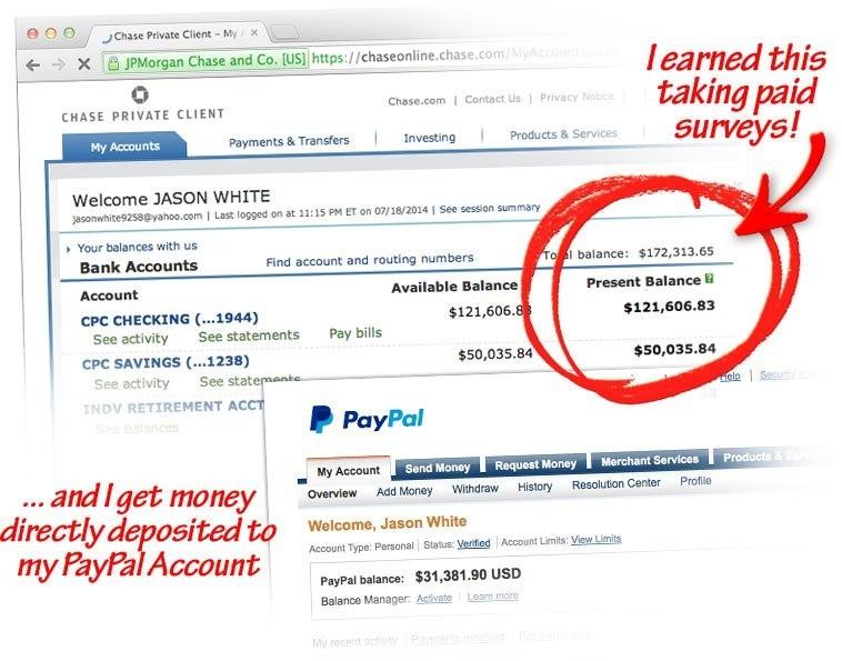 jason white claims to make money on paid surveys