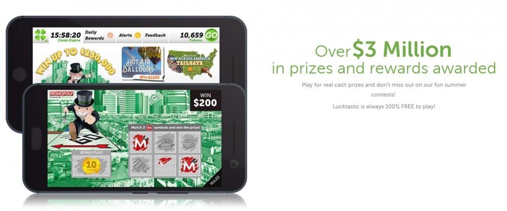 Lucktastic: Free Digital Scratch-Off Cards