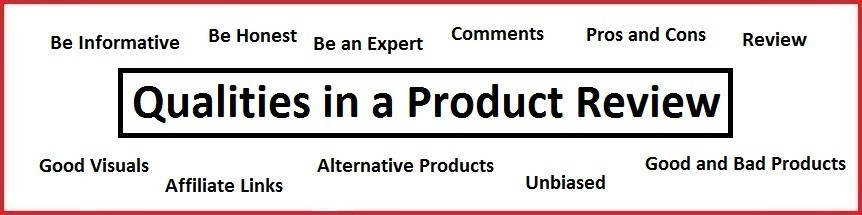 Qualities in a product review
