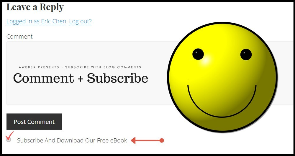 subscribe by leaving a blog comment