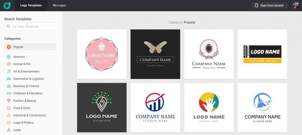 select a template on designevo