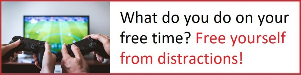 Free yourself from distractions