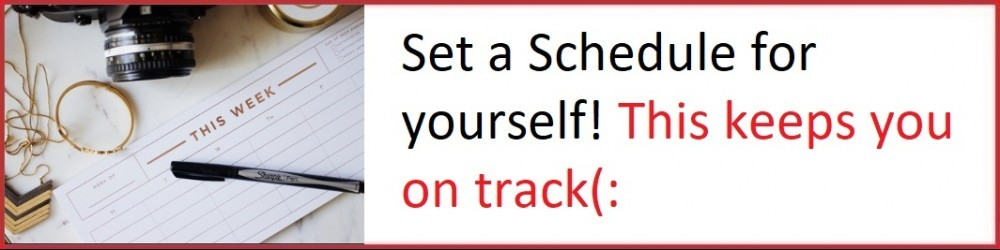 Set a schedule for your online business