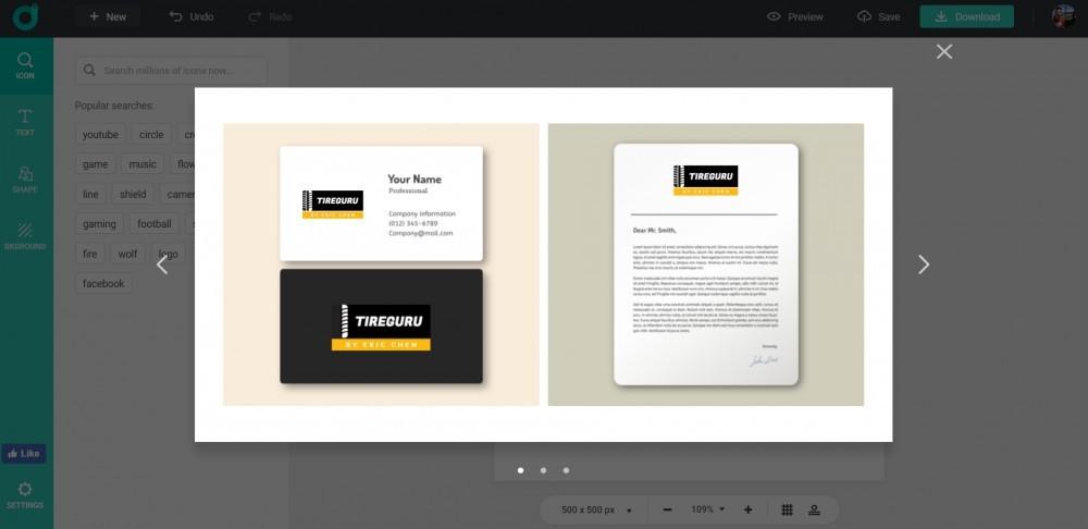 preview your logo on designevo