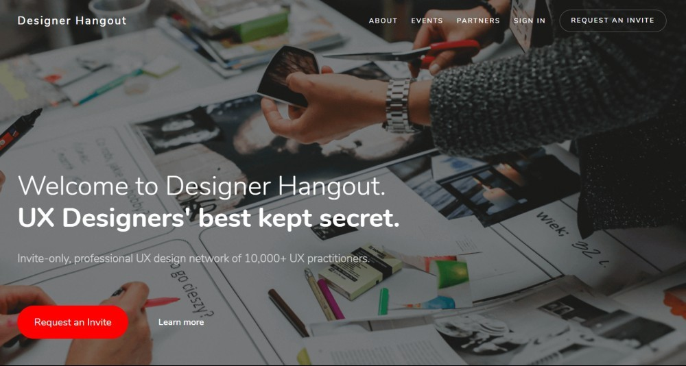 Designer Hangout: Global, invite-only UX design community