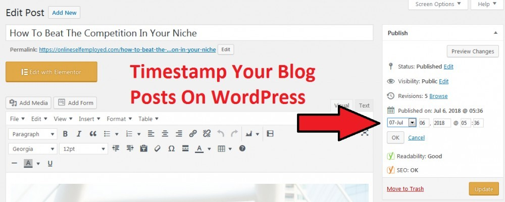 Timestamp Your Blog Posts On WordPress
