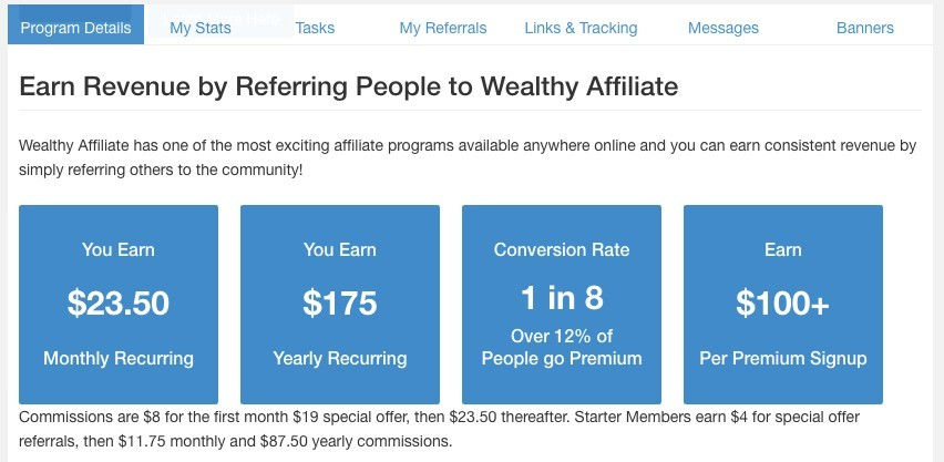 Make money with Wealthy Affiliate affiliate program