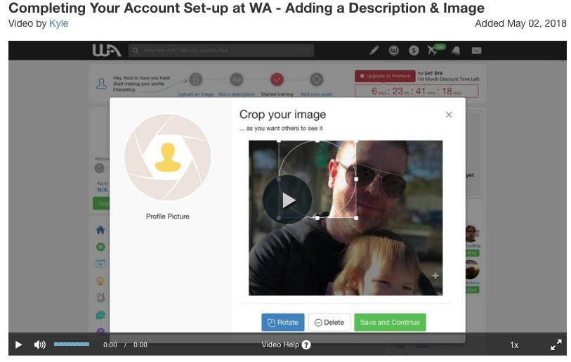 How to set up your account at Wealthy Affiliate