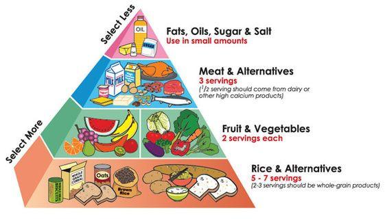 Food Pyramid circa 1970