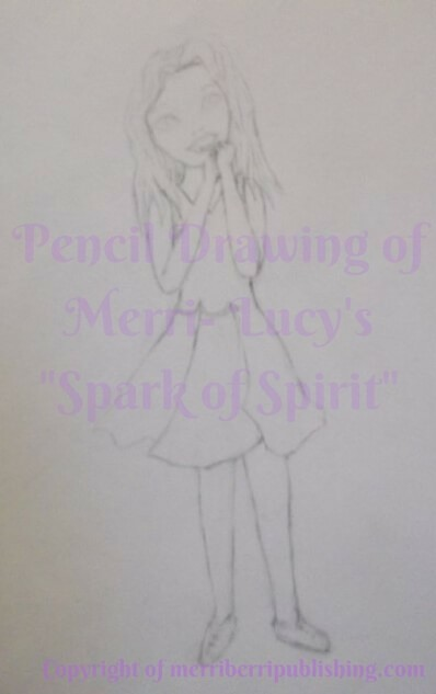 Final Pencil Drawing of Merri Berri for Book Illustration