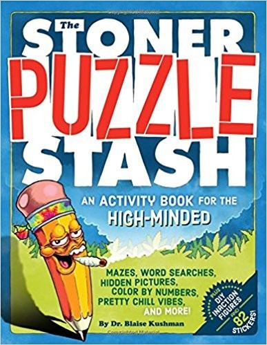 Stoner Puzzle Stash coloring and activity book