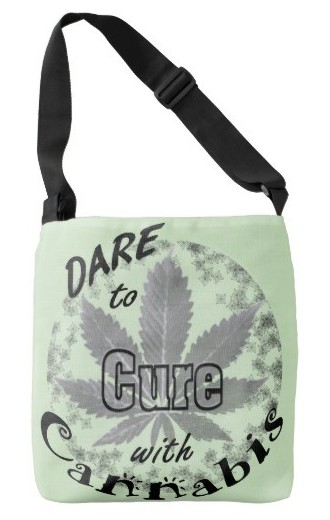 Dare to cure with cannabis tote bag