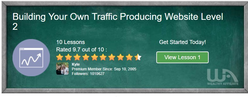 build your own traffic producing website