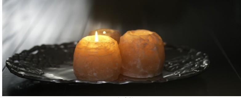 himalayan salt candle holder