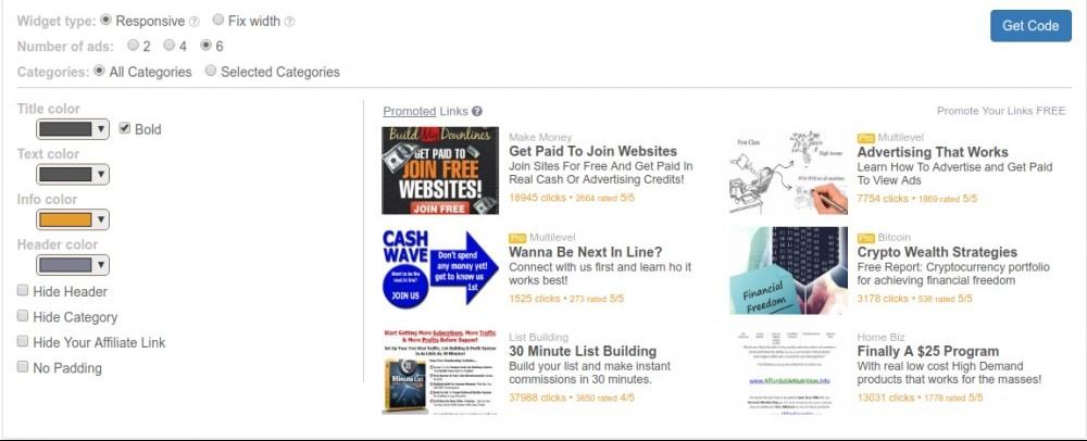 LeadsLeap Ad Widget