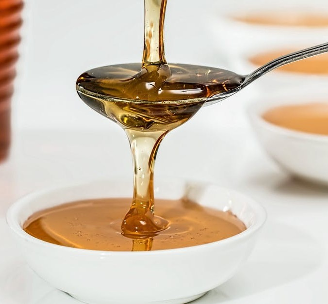 Burdock oil, yolk and honey