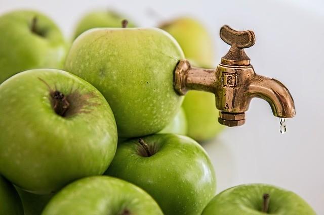 Castor oil and apple juice