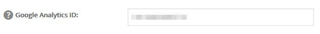 Tracking ID on Worpress dashboard