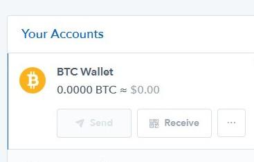 Coinbase - receive bitcoins