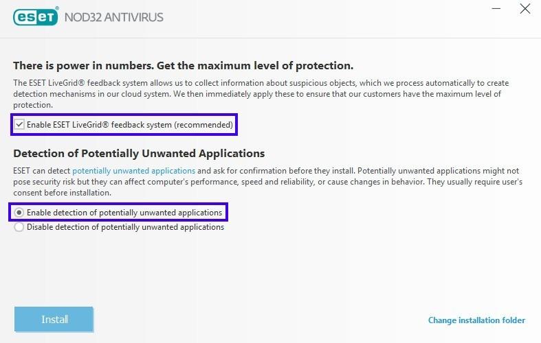 ESET NOD32 Antivirus Installation
