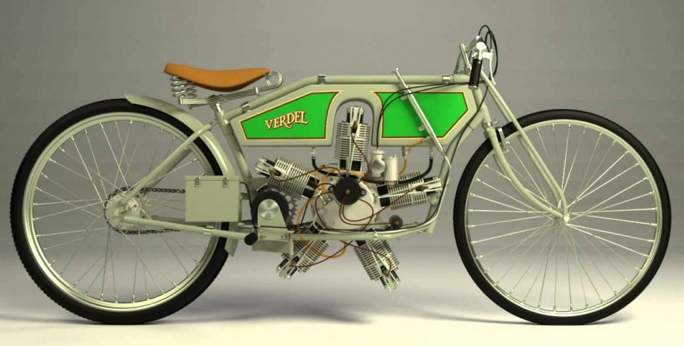 Verdel 1912 Radial Engine Motorcycle
