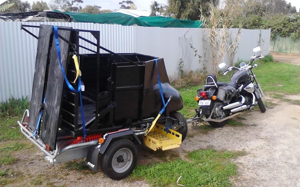 Honda Towing a Sidecar
