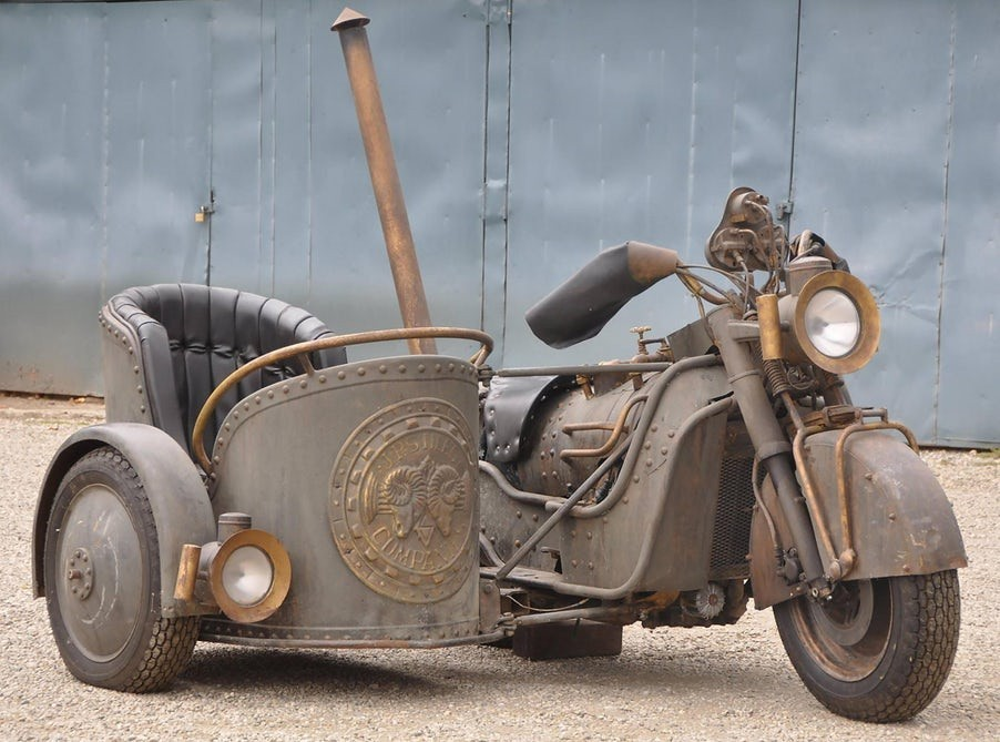 Steampunk Chariot Sidecar Motorcycle