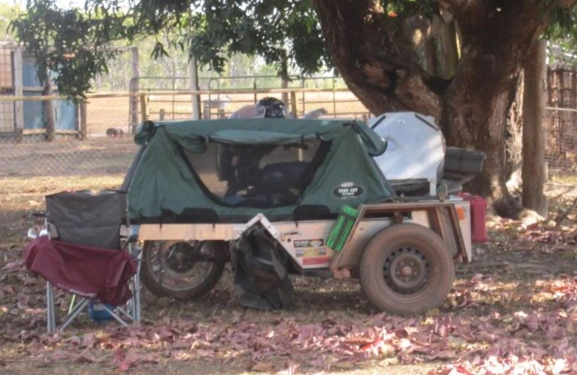 Motorcycle Sidecar Camp Cot