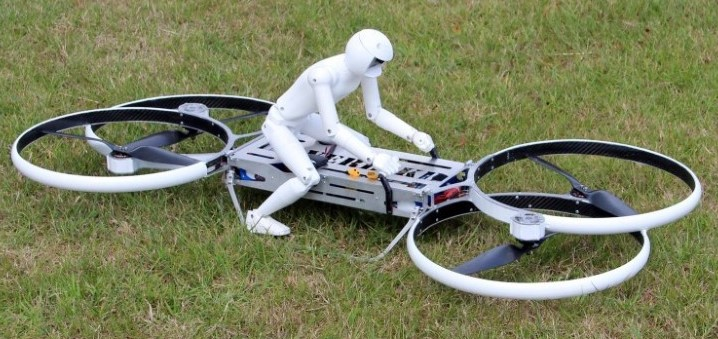 Quadcopter Flying Motorcycle