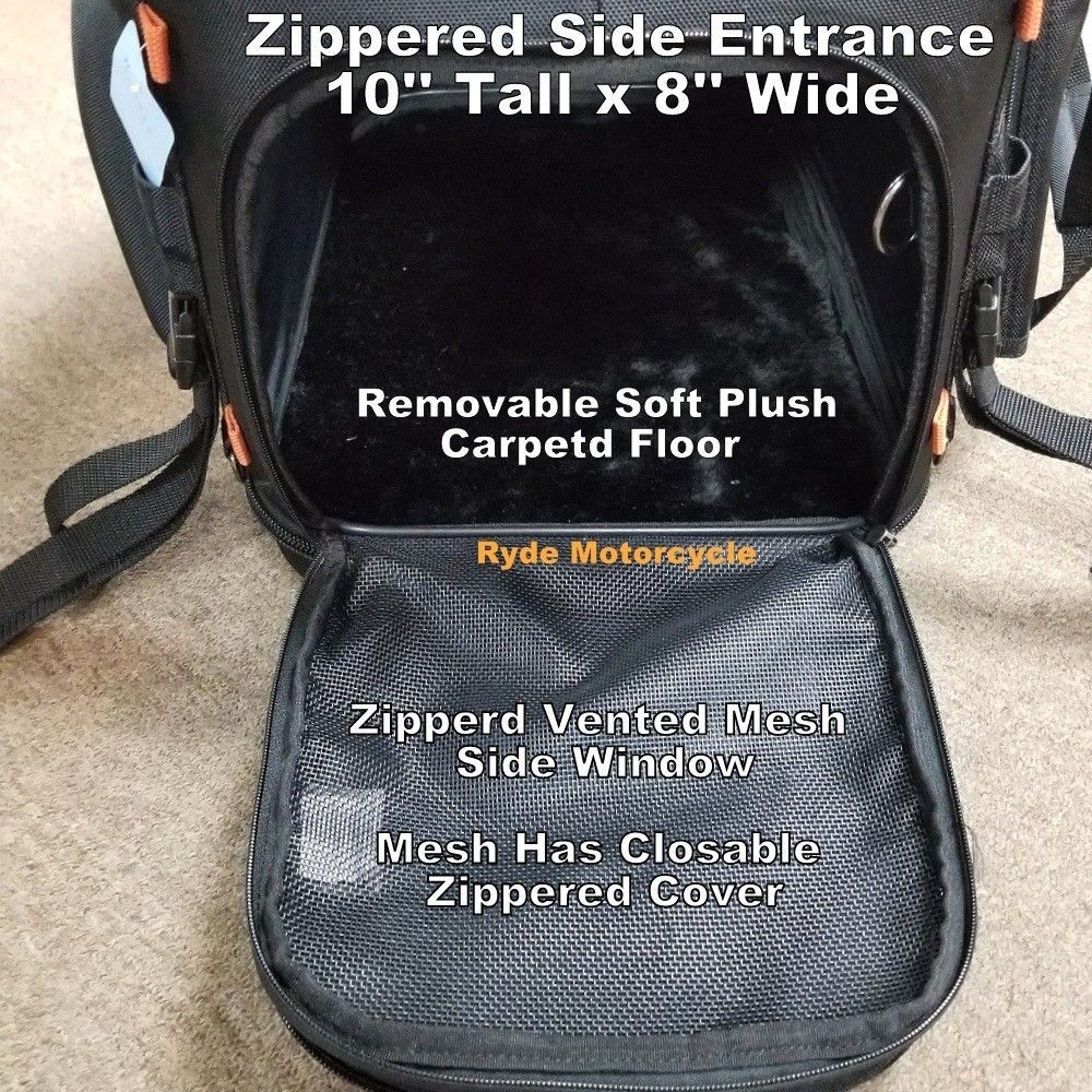 Deluxe Motorcycle Pet Carrier